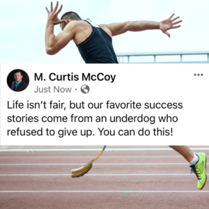 Life isn't fair, but our favorite success stories come from an underdog who refused to give up. You can do this!