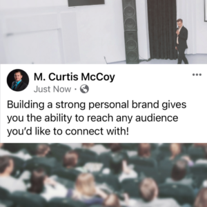 Building a strong personal brand gives you the ability to reach any audience you'd like to connect with!